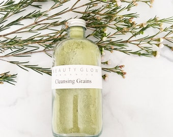 Green Tea REFRESH Cleansing Grains || Facial Cleanser & Mask || Gluten-Free || Vegan || Organic || 100% Natural