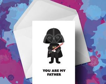 Star Wars - Darth Vadar - Fathers Day Card