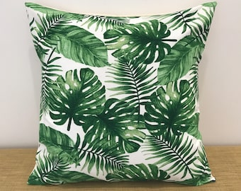 Decorative Pillow Palm Tree : Palm leaf pillow Etsy