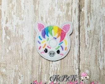 INSTANT Download Zebra Donut Embroidery Feltie Design