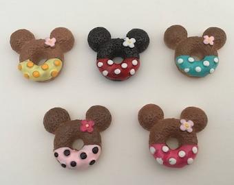 Set of 5 Mickey Donut Resins
