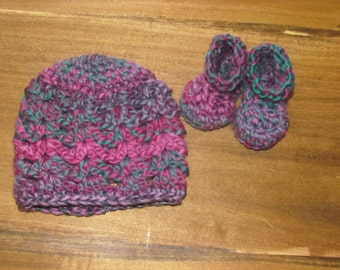 Crochet Newborn Hat & Boots