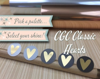 Foiled Planner Stickers | CGC Classic Hearts | 56 Stickers Total