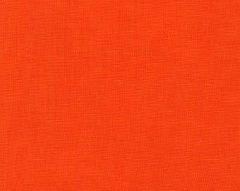 "100% Kona Cotton Tangerine Color 44""W"