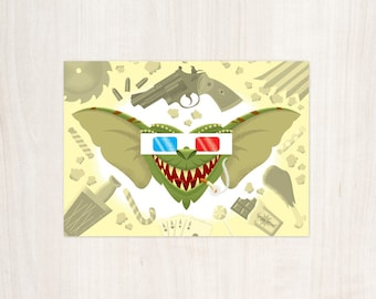 Gremlin Birthday Card 4 by 6 Inch