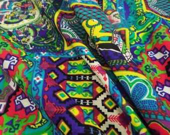 """Dressmaking Fabric Cotton Fabric For Sewing Designer 100 % Multicolor 42"""" Wide Pictorial Printed Decorative Cotton Fabric By 1 Yard ZBC6491"""