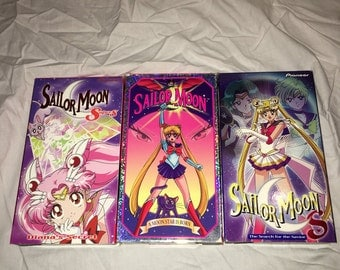 Set of 3 Salior Moons Vhs tapes