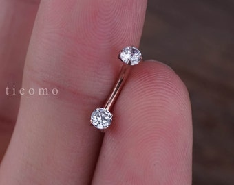Daith earring Daith piercing 16g Rook earring Rook piercing Eyebrow ring Snug piercing Rose Gold Curved Bar 6mm 8mm #1D