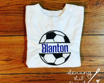 Applique Soccer Shirt -- personalized with name