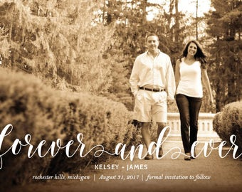 Forever and Ever Photo Save the Date