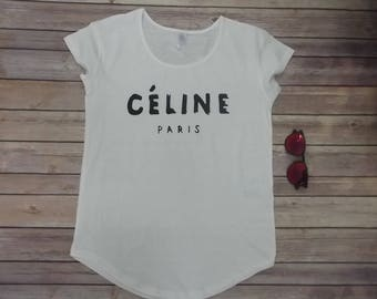 Celine T-shirt for woman all sizes Print 100% cotton
