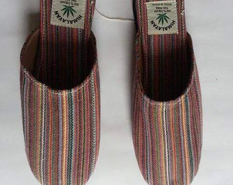 Multicolored Eco Friendly Bohemain THC Free Hemp Slippers