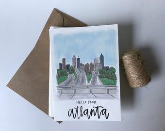 Hello From Atlanta - Jackson St. Bridge View Cards