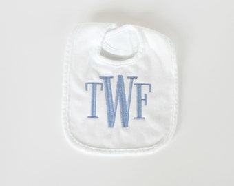 Monogrammed Bib - Personalized Baby Bib - Other Colors Available