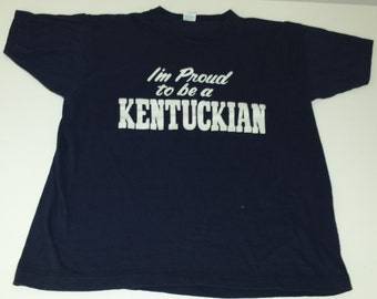 "Vintage Champion ""I'm Proud to be a Kentuckian"" iron on tshirt size XL  runs smaller"