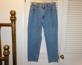 Vintage Levis High Waist 550 Jeans Relax Straight Leg Tag Says  12 S  Waist 30 Plus Inches H