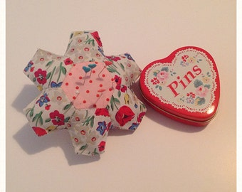 Cath Kidston fabric patchwork pincushion
