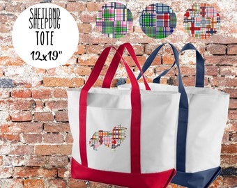 """Shetland Sheepdog """"Sheltie"""" Tote Bag"""
