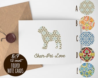 Chinese Shar-Pei Note Cards