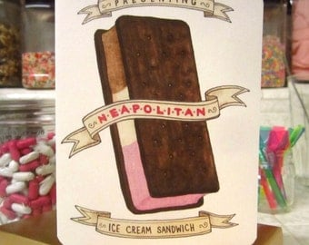 Neapolitan Ice Cream Sandwich Card