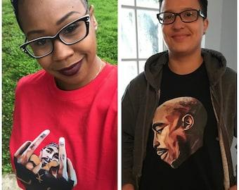 Tupac All Eyes On Me - T Shirt by artist Jason Holmes