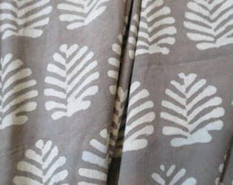 Kashish Grey Cotton Block Print Fabric