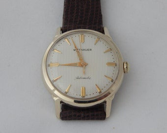 Wittnauer automatic etsy vintage 1960s wittnauer 17 jewel automatic wrist watch 10 kt gold filled sciox Choice Image