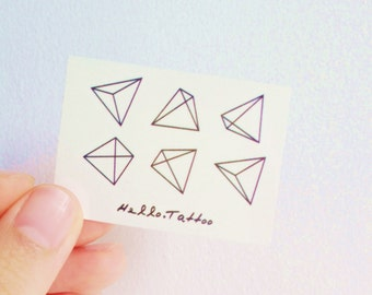 Geometry Shapes - Temporary Tattoos // Cute // Shapes // Summer // Party