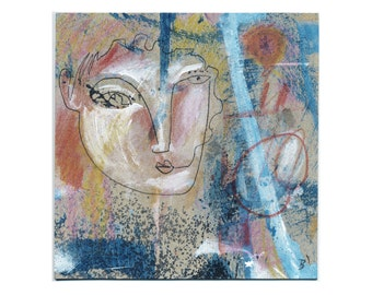 Walls 15/15 cm (5.9/5.9 inch) images painting/paintings, drawings/drawings embellish with abstract art