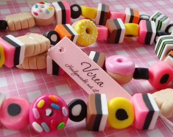 Liquorice Cookies and Donuts Necklace