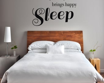 Happy Sleep - Vinyl Wall Decal Quote