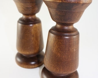 Baribocraft Wood Candle Holders - One Pair