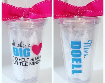 Teacher Gift Tumbler. Teacher Appreciation Gift.