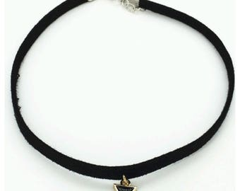 Black Choker Necklace,  Triangle