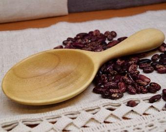 Wooden scoop from walnut,wooden spoon,wooden kitchen utensils,carved wooden spoon,grain scoop,flour scoop,kitchen scoop,scoop,serving spoon