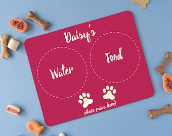 Small Pet Placemat - Wipe Clean Pet Placemat - Personalised Pet Placemat