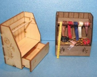 1:12 Dollhouse Miniature Sewing Cabinet/ Miniature Kit DI FS402