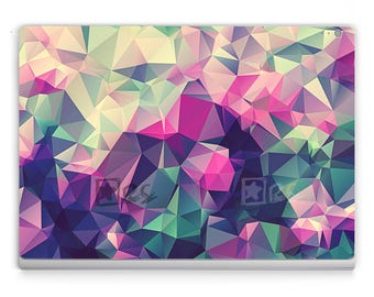 Surface book/Pro 4/Pro 5 Decals *~* Colourful Triangles *~* Microsoft Surface Stickers/Decal/Microsoft Lap Top