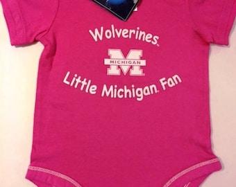 Michigan Wolverines, Onesie Cupcake,  Baby Shower, Homecoming Gift,