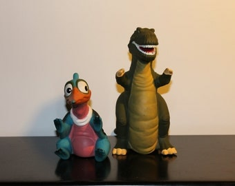 1988 Set 2 Land Before Time Hand Puppets Pizza Hut