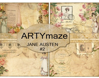 JANE AUSTEN Digital JOURNAL kit #2 *instant download