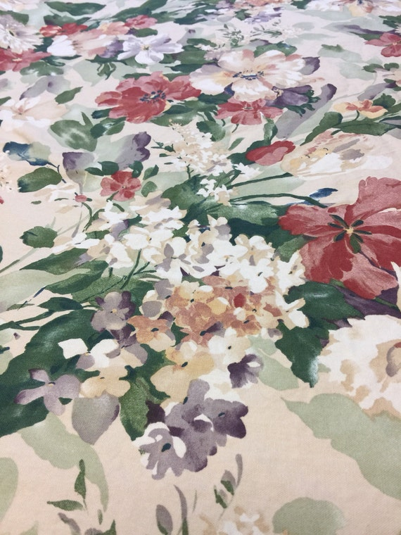 Vintage Upholstery Fabric Floral 1 2 Yd Richloom Shabby Chic From TikasTreasureHut On Etsy