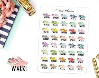 Walk! (matte planner sticker, clipart, Erin Condren, Happy Planner, Filofax, Kikki K)