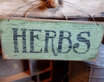 Handpainted Herbs sign