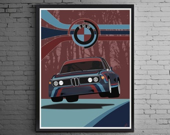 Nurburgring Legend ( BMW 3.0L CSL art print )