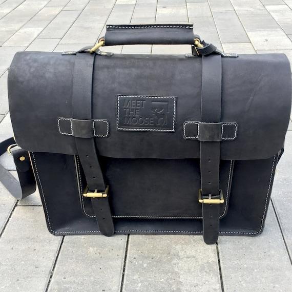 Distressed Leather Messenger Bag, Leather Briefcase, Leather Laptop bag, Leather Satchel, Leather Cross Body Bag Business Bag Travelling Bag