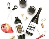 Shut the front door! New home owner wine labels 2 PACK