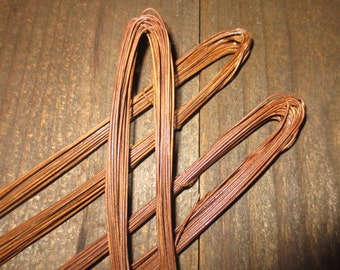 Rusty Wire for Primitive Country Crafting 3 pc Lot of 36 ft Coils/Rolls 20 gauge Craft Supply