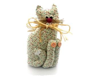 Cat. Cat ornament. Large fabric cat decoration. Handmade cat ornament. Ornamental cat. Exclusively Handmade cat. Home decor