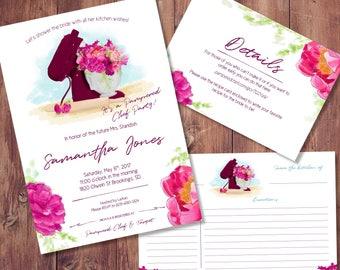 kitchen bridal shower invitation pampered chef bridal shower. Black Bedroom Furniture Sets. Home Design Ideas
